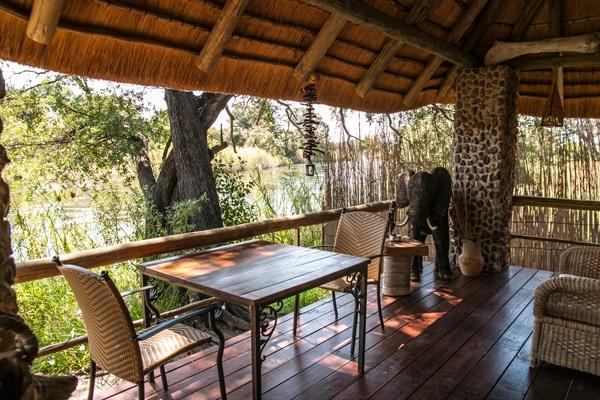 Terrace with view onto the Kavango river