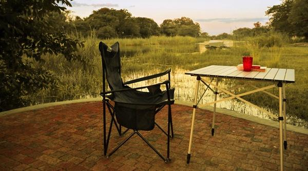 Camping overlooking the Okavango River