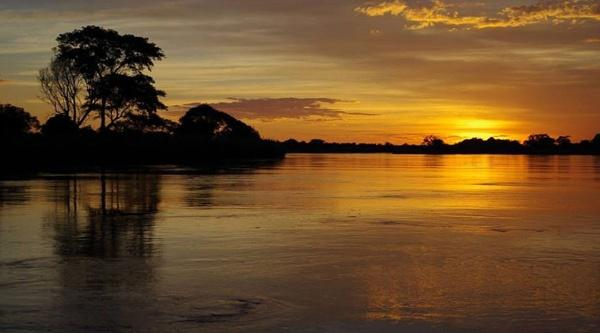 Beautiful Okavango river sunset