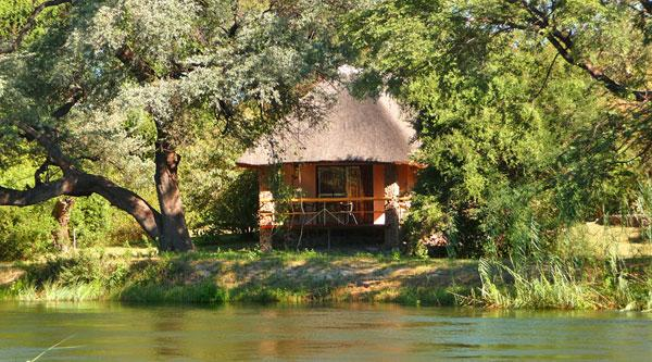 Mobola Lodge from Okavango Island