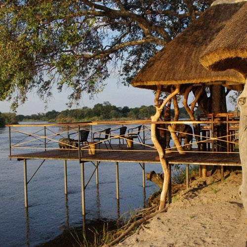 Hidden but beautiful place at the Okavango River